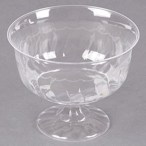 (20 Count Clear 8 oz. One-Piece Plastic Dessert / Appetizer Cup w/ Signature Party)