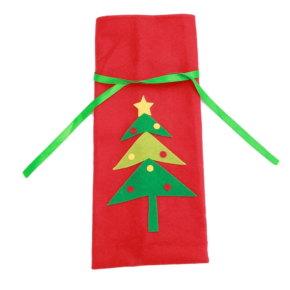 Xeminor Premium Quality Christmas Wine Bottle Cover Gift Bags Christmas Tree Christmas Decorations