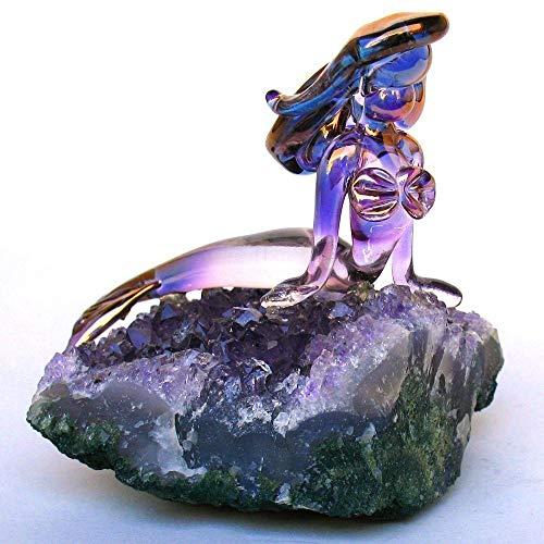 Mermaid Figurine of Hand Blown Glass