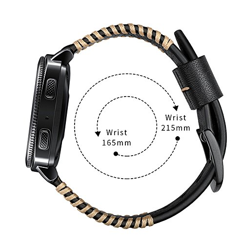 YOOSIDE for Garmin Fenix 5/Forerunner 935 Watch Band,22mm Genuine Leather Replacement Watch Strap for Fenix 5/5 Plus/Forerunner 935,Fit Wrist 5.9''-7.9''(NOT for Fenix 5X/5S) by YOOSIDE (Image #4)