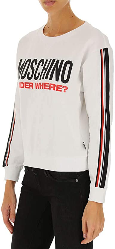 Moschino Underwear Sweat femme Blanc Z A1712 9001 col 1