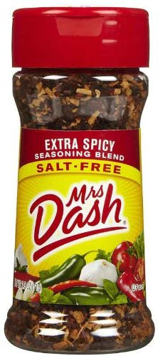 Mrs. Dash Extra-Spicy Seasoning Blend, Salt-Free, 2.5-Ounce Shaker (Pack of 6)