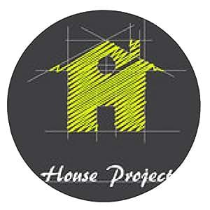 alfombrilla de ratón Logo proyecto de la casa # vectorial - ronda - 20cm