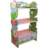 Teamson Design Corp Fantasy Fields W-7500A Magic Garden Hand Crafted Kids Wooden Bookshelf, Pink, 22 x 11.5 x 38