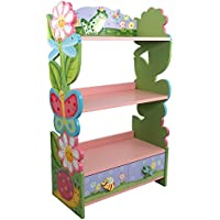Fantasy Fields - Magic Garden Thematic Kids Wooden Bookcase with Storage | Imagination Inspiring Hand Crafted & Hand Painted Details   Non-Toxic, Lead Free Water-based Paint