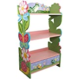 Wooden Garden Furniture Fantasy Fields - Magic Garden Thematic Kids Wooden Bookcase with Storage | Imagination Inspiring Hand Crafted & Hand Painted Details   Non-Toxic, Lead Free Water-based Paint