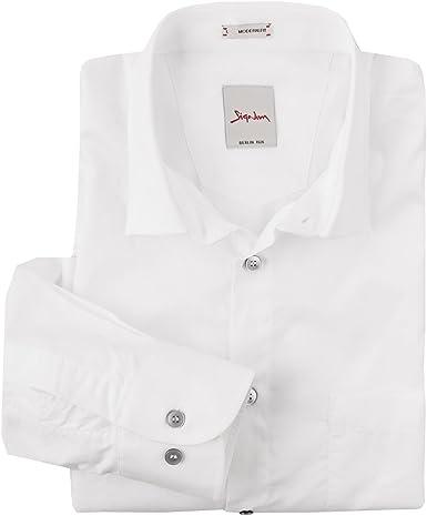 Signum XXL Camisa Manga Larga estructurada Blanca: Amazon.es: Ropa y accesorios