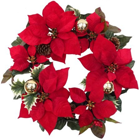 Outdoor Lighted Poinsettias in US - 6