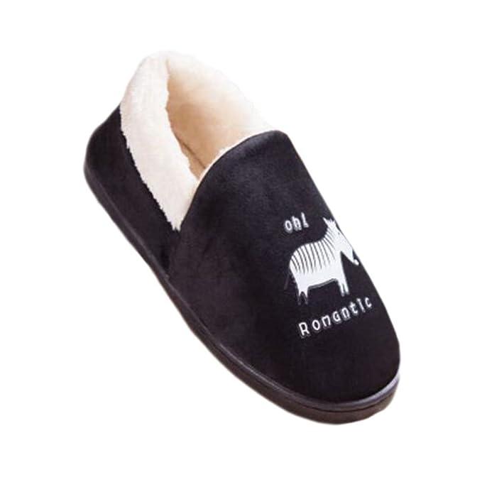 Hombres Mujeres Zapatillas de Interior Zapatillas de Piso de Invierno Familia de Algodón Zapatillas Calzado Zapatos