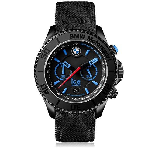 Ice-Watch - BMW Motorsport (Steel) Black - Men's Wristwatch with Leather Strap - Chrono - 001123 (Extra Large)