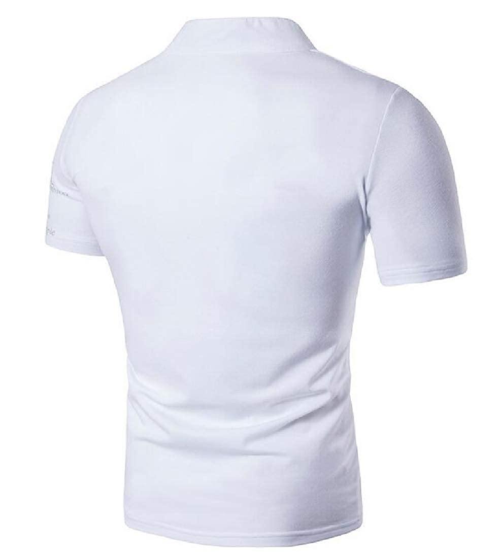 Joe Wenko Mens Basic V-Neck Short Sleeve Tee Printed T-Shirts