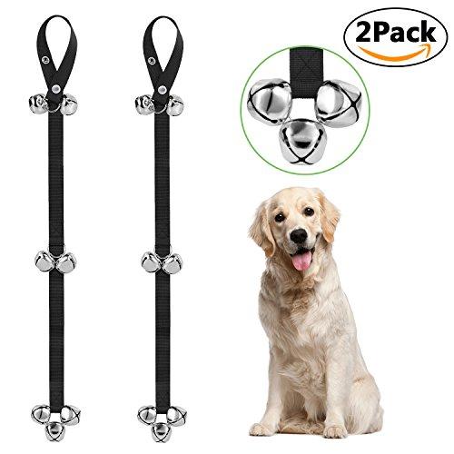 Adoric Life Dog Doorbells, Premium Adjustable Door Bell for Potty Training , Housebreaking - 2 Pack Nylon Rope with 7 Extra Large Loud DoorBells