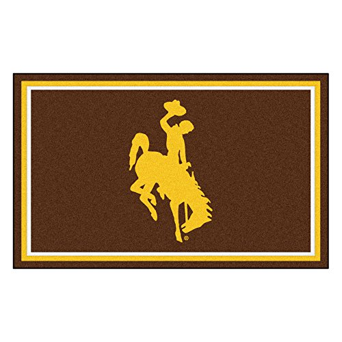 FANMATS 18563 NCAA University of Wyoming 4x6 Rug by Fanmats