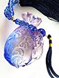 Feng Shui Liu Li Money Bag With Pi Yao Charm Hanging Amulet For Wealth Luck