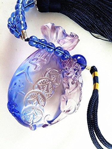 Feng Shui Liu Li Money Bag With Pi Yao Charm Hanging Amulet For Wealth Luck