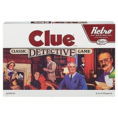 Clue Classic Detective Board Game Retro Series Reissue by Hasbro