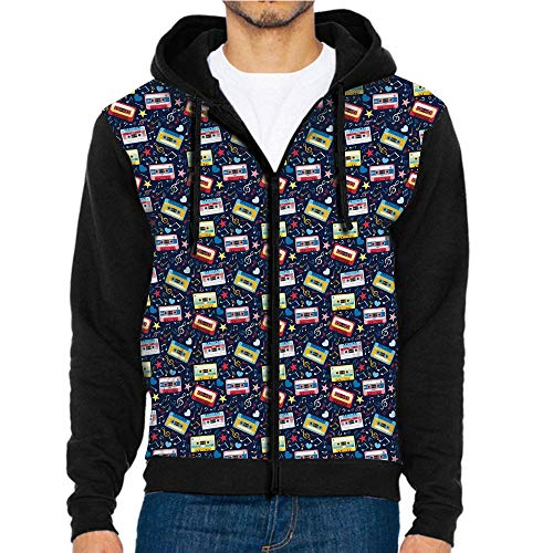 3D Printed Hoodie Sweatshirts,Sound Tempo Love Melody,Hoodie Casual Pocket ()