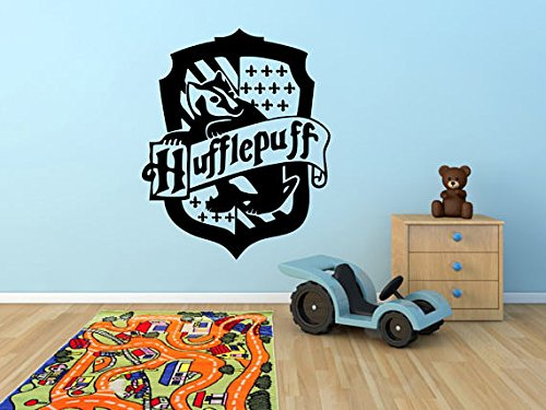 Hufflepuff Harry Potter Inspired Wall Art Sticker Hogwarts School of Witchcraft Logo Vinyl Crest Decal (22