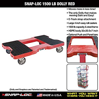 SNAP-LOC 1500 LB Dolly RED (USA!) with Steel Frame, 4 inch Casters and Optional E-Strap Attachment: Platform Trucks: Industrial & Scientific