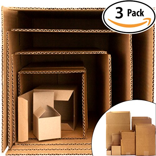 Give the Gift of Frustration: Boxes in a Box Prank. Includes 3 Sets of 6 Nesting Cartons (2-12 Inch). Funny Practical or Novelty Joke. Great Christmas Gag, Birthday Present or - April Hilarious Fools