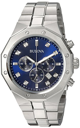 Bulova-Mens-Quartz-Stainless-Steel-Casual-Watch-ColorSilver-Toned-Model-96D138