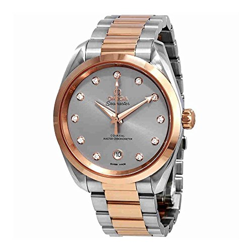 Omega Seamaster Aqua Terra Automatic Chronometer Diamond Grey Dial Ladies Watch 220.20.38.20.56.002