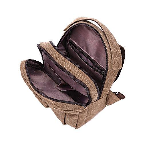 Multifonction Dos Pour kaki De Homme Bandoulière Casual Air Sac À Mode Sports Plein HwvYv6q