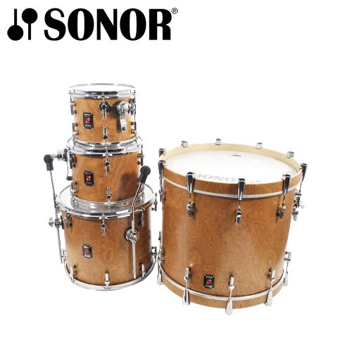 Sonor JF-SSE-11-NEWPORT Beech Matte Walnut Veneer 4-Piece Shell Pack