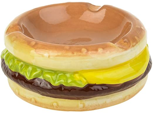 Out of the blue Burger Ceramic Ashtray