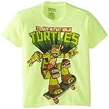 Teenage Mutant Ninja Turtles Big Boys' Cowanbunga T-Shirt Shirt, Safety Green, Large/  14/16