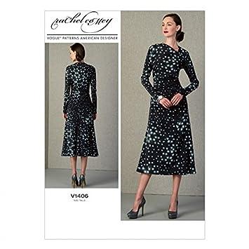 Vogue Damen Schnittmuster 1406 Designer Kleid: Rachel Comey: Amazon ...