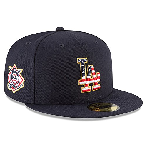 Mlb 59fifty Stars - New Era Los Angeles Dodgers 2018 July 4th Stars and Stripes 59FIFTY On Field Fitted Hat 8