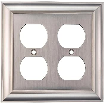 Allen Roth - 3 Toggle Switch Wall Plate - Brushed Nickle - WU