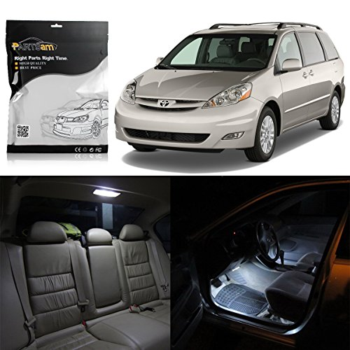 (Partsam Interior LED Light Package Kit Replacement for Toyota Sienna 2004-2010 Xenon White, Pack of 13)