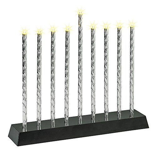 Rite Lite LTD Diamond Cut Aluminium Tubes LED Electric Menorah - Battery Operated