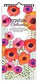 Gina B Margaret Perpetual Birthday Calendar, Annual Anniversary Reminder Calendar with Flower Artwork by Margaret Berg