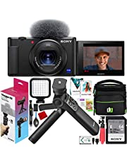 $848 » Sony ZV-1 Compact Digital 4K Camera Vlogger Creator's Kit ACCVC1 Includes GP-VPT2BT Shooting Grip with Wireless Remote Commander + 64GB Card DCZV1/B Bundle Deco Gear Case + LED Light and Accessories