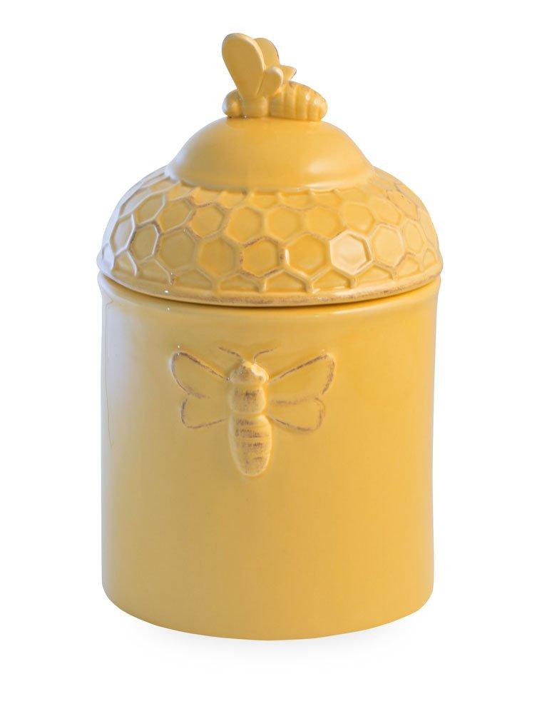 Boston International Ceramic Goody Jar, Honeycomb