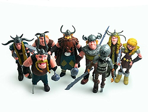 - Max Fun Set of 8 Pcs How To Train Your Dragon Action Figures Hiccup Astrid Stoick & Ruffnut Child Toys Xmas Gift Cake toppers