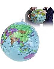 Saver 40cm Opblaasbare Wereld Aarde Globe Atlas Kaart Strand Ball Science Aardrijkskunde Onderwijs