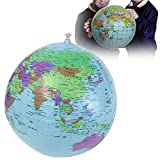Flying Colourz 40cm Inflatable World Earth Globe Atlas Map Beach Ball Science Geography Education