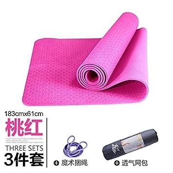 YOOMAT 8mm Engrosada Double Deck Skid Esterilla de Yoga ...