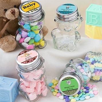 amazon com personalized teddy bear candy jar favors health