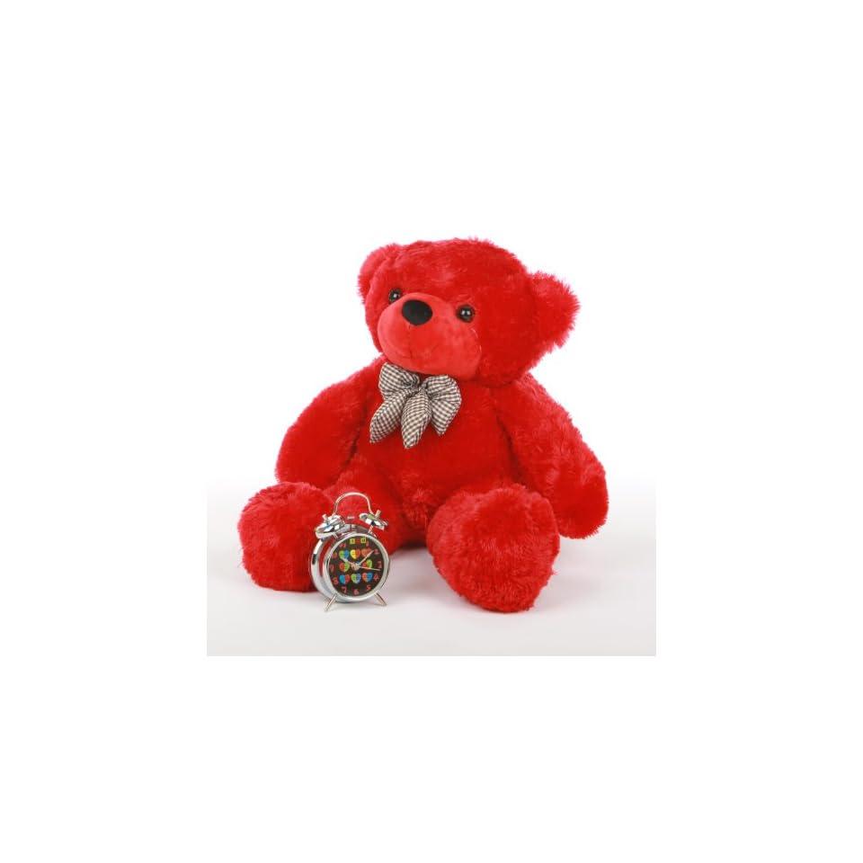 Bitsy Cuddles   30   Super Soft & Huggable, Giant Teddy red plush teddy bear