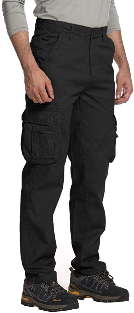 TRGPSG Men's Lightweight Casual Cargo Pants Multi-Pocket Military Combat Relaxed Fit Tactical Work Hiking Pants