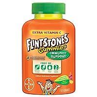 Flintstones Gummies Children's Multivitamin plus Immunity Support *, Suplemento multivitamínico para niños que incluye vitaminas A, C, E y zinc, 150 unidades