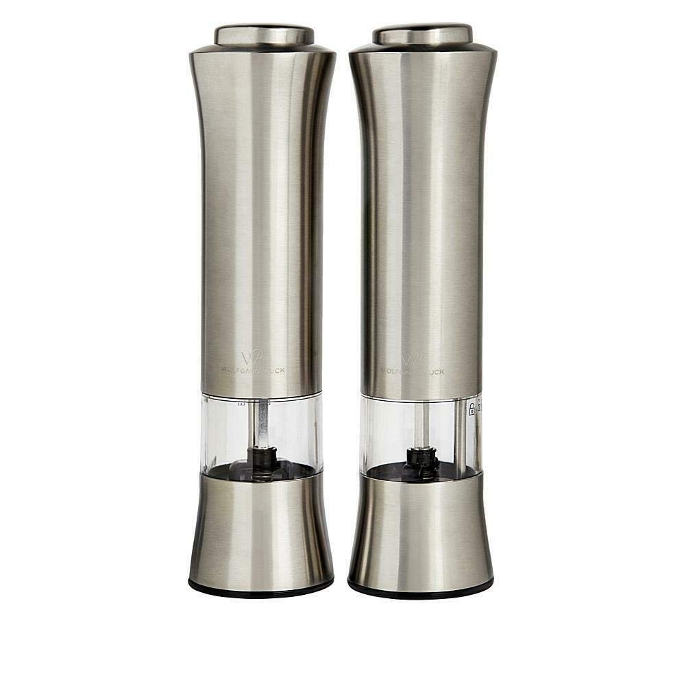 Wolfgang Puck Spice Mill Duo with Adjustable Grinders in Gift Box