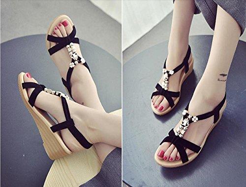 f595066f734 Verano nuevas damas pendiente con sandalias fondo plano con los zapatos de  las mujeres 2