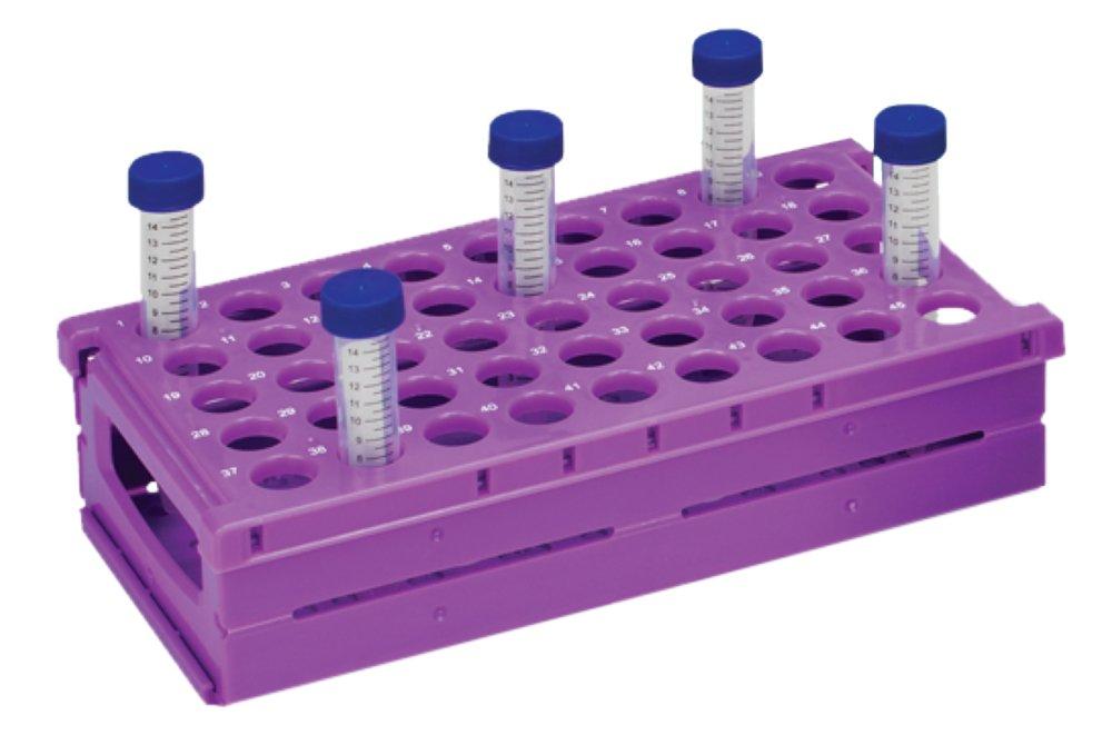 Neolab 4 0062 Rack pour Zentrifuge Tube pliant deux 15 ml, 45, Violet 4-0062