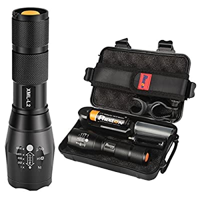 Phixton Tactical 1200lm L2 LED Flashlight